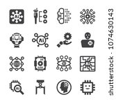 artificial intelligence ai icon ... | Shutterstock .eps vector #1074630143