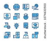 e learning line icons.... | Shutterstock .eps vector #1074633503