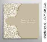 invitation or card template... | Shutterstock .eps vector #1074635360