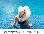holiday and outdoor concept at...   Shutterstock . vector #1074637160