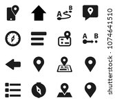 flat vector icon set   compass...