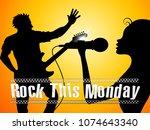 monday motivation quotes   rock ... | Shutterstock . vector #1074643340