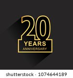 20 years anniversary design... | Shutterstock .eps vector #1074644189