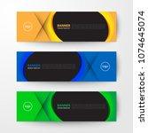 modern geometrics banners web... | Shutterstock .eps vector #1074645074