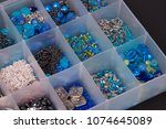 Blue And Silver Beads Organize...