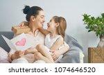 happy women's day  child... | Shutterstock . vector #1074646520