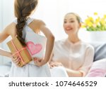 happy women's day  child... | Shutterstock . vector #1074646529