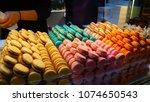 tasty and colorful macaroons   Shutterstock . vector #1074650543