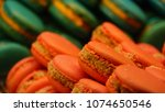 tasty and colorful macaroons   Shutterstock . vector #1074650546