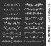 collection of hand drawn... | Shutterstock .eps vector #1074652748