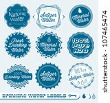 vector set  vintage drinking... | Shutterstock .eps vector #107465474