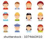 people profession avatar part... | Shutterstock .eps vector #1074663410