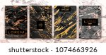 gold  black  white marble... | Shutterstock .eps vector #1074663926