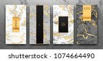 gold  black  white marble... | Shutterstock .eps vector #1074664490