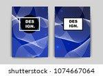 dark blue vector brochure for...