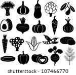 set of vector vegetables | Shutterstock .eps vector #107466770