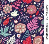 seamless floral pattern with a... | Shutterstock .eps vector #107466899