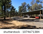 Small photo of NEW SOUTH WALES, AUSTRALIA – March 21, 2018: View of one of the many excellent rest areas along the freeway from Melbourne to Sydney, with tables and benches, shade, toilets and shaded car parking