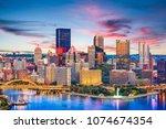 pittsburgh  pennsylvania  usa...   Shutterstock . vector #1074674354