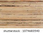 bamboo brown straw mat as... | Shutterstock . vector #1074683540