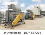 industrial centrifugal fan and... | Shutterstock . vector #1074687296