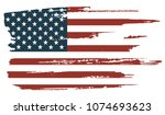 grunge american flag.united... | Shutterstock .eps vector #1074693623