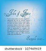 vector illustrated wedding... | Shutterstock .eps vector #107469419
