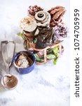 miscellaneous ice cream cone in ... | Shutterstock . vector #1074705959