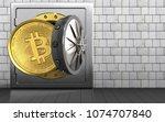3d illustration of metal safe... | Shutterstock . vector #1074707840