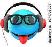 3d illustration of blue... | Shutterstock . vector #1074708026