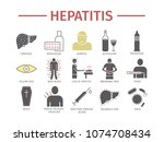 hepatitis flat icon... | Shutterstock .eps vector #1074708434