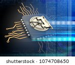 3d illustration of electronic... | Shutterstock . vector #1074708650