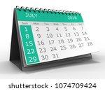 3d illustration of calendar... | Shutterstock . vector #1074709424