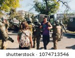 santiago  chile   april 19 ... | Shutterstock . vector #1074713546
