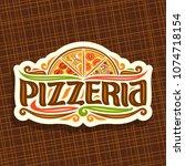 vector logo for italian... | Shutterstock .eps vector #1074718154