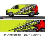 cargo van graphic vector.... | Shutterstock .eps vector #1074720449