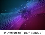 data connection speed line.... | Shutterstock .eps vector #1074728033