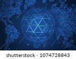 global network security....   Shutterstock .eps vector #1074728843