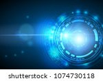 abstract technology background... | Shutterstock .eps vector #1074730118