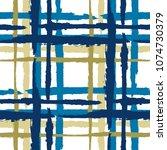 plaid. seamless grunge texture... | Shutterstock .eps vector #1074730379