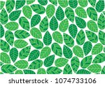 abstract green leafs stripe... | Shutterstock .eps vector #1074733106