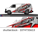 cargo van graphic vector.... | Shutterstock .eps vector #1074733613
