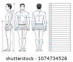 a man in his underwear is seen... | Shutterstock .eps vector #1074734528