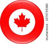 canada flag icon vector outline ... | Shutterstock .eps vector #1074735380