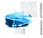 blue brush stroke and texture....   Shutterstock .eps vector #1074735659