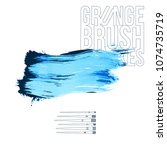 blue brush stroke and texture.... | Shutterstock .eps vector #1074735719