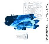 blue brush stroke and texture....   Shutterstock .eps vector #1074735749