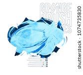 blue brush stroke and texture.... | Shutterstock .eps vector #1074735830