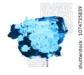 blue brush stroke and texture.... | Shutterstock .eps vector #1074735839