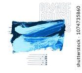 blue brush stroke and texture....   Shutterstock .eps vector #1074735860